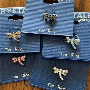 3/$10 NEW dragonfly toe ring